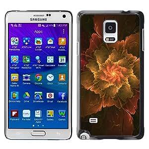 Caucho caso de Shell duro de la cubierta de accesorios de protección BY RAYDREAMMM - Samsung Galaxy Note 4 - Abstract Leaf