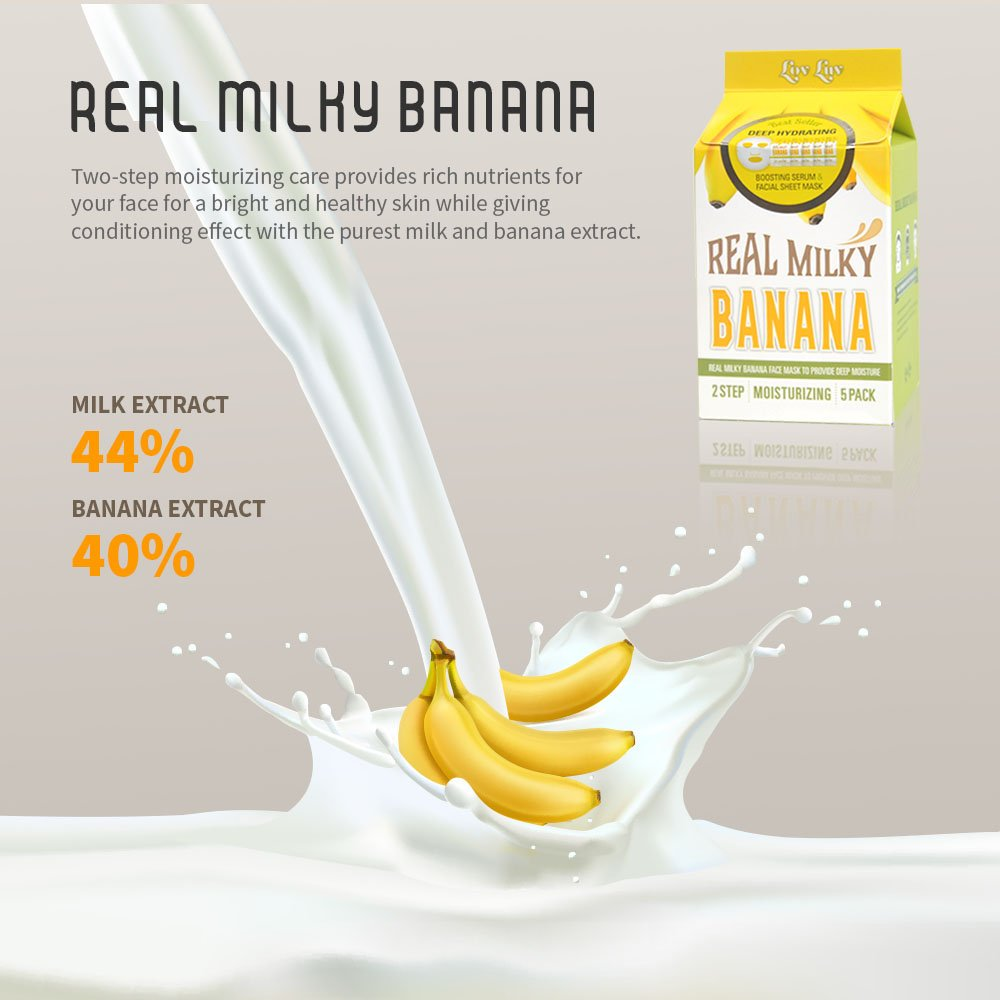 Amazon Com Lovluv Real Milky Banana Face Masks K Beauty