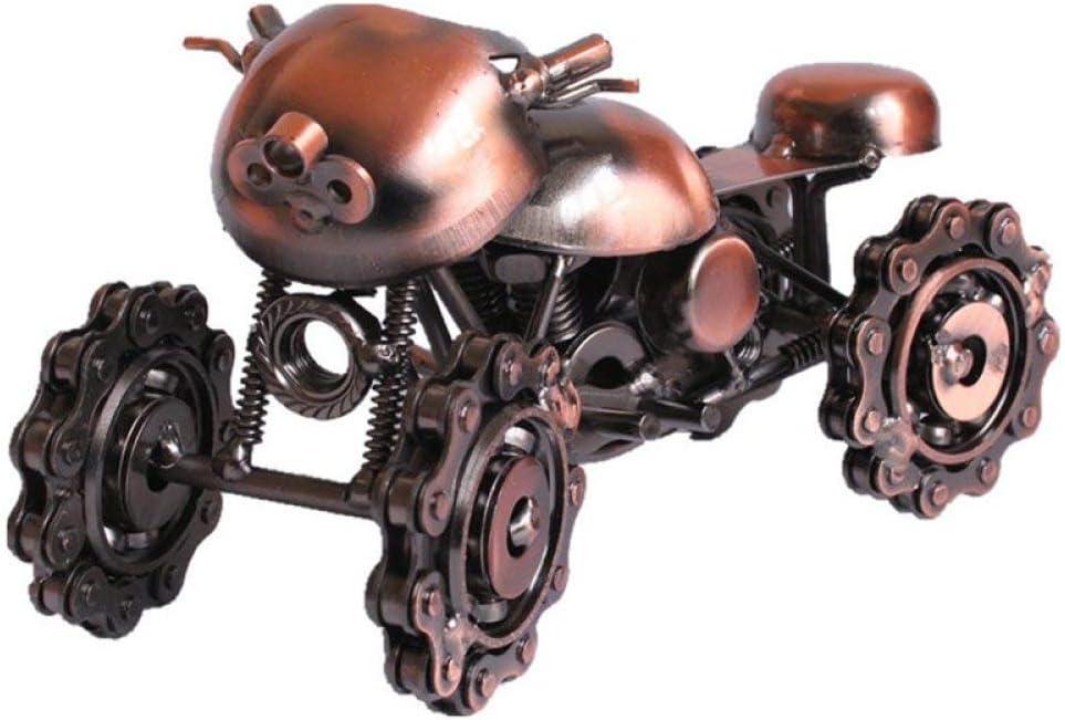 MAIAMY Fresco Moto Escultura Metal Hierro Arte Hecho a Mano Arte para el hogar Bar Decoración Regalo