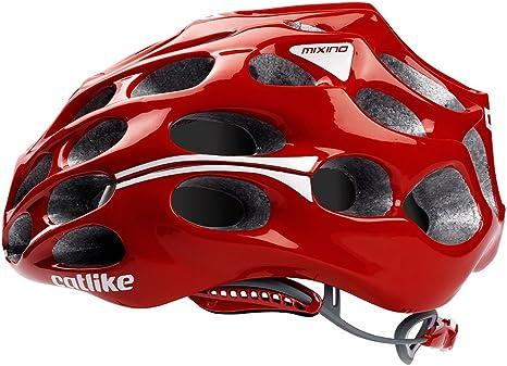 Catlike Mixino - Casco de Ciclismo, Color Rojo Brillo, Talla SM ...