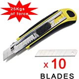 Autoload Utility Knife,Heavy Duty,Comfortable Rubber Grip,Stainless Steel Blades x10,Multipurpose