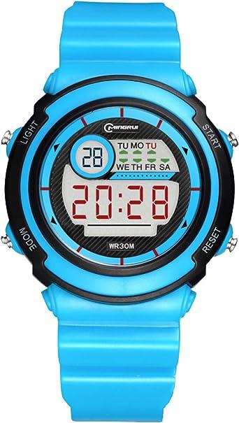Reloj Digital para niños y niñas, 30 m, Resistente al Agua, Regalo para niños de 7 a 10 a 15 años