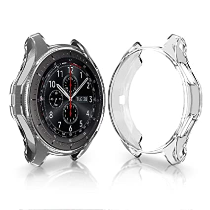 Compatible Galaxy Watch 46MM Case, Junboer Soft TPU Scractch-Resist Shock-Proof All-Around Protective Shell Protective Samsung Galaxy Watch 46MM ...