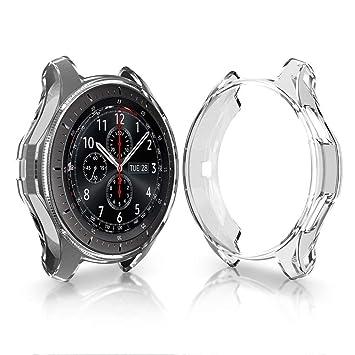 SUPORE Carcasa para Smartwatch Gear S3 SM-R760, a Prueba de Golpes y Suciedad, para Smartwatch Samsung Gear S3 Frontier SM-R760 (Blanco 1)