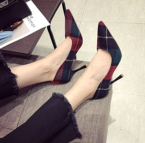 All Red 9Cm Heels Shoes Fine Elegant Single Leisure Pointed Lady Color High Work 34 With Spring Match Shoes Ladies MDRW x0qZTzF
