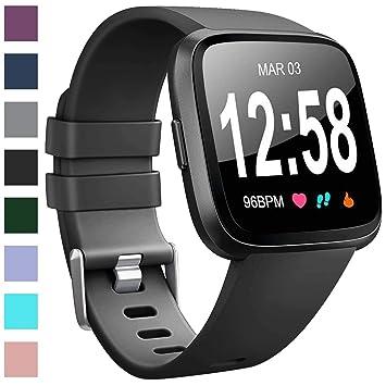Amazon.com: Vancle - Pulseras compatibles con Fitbit Versa ...