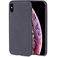Lilware Soft Fabric Texture Plastic Phone Case for Apple iPhone X and iPhone Xs - Navy