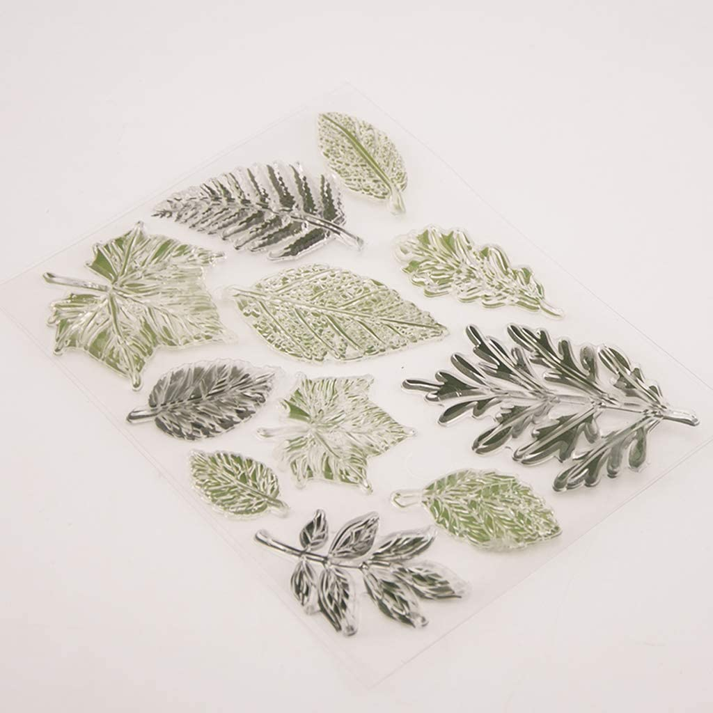 KUKALE Leaf Silicone Clear Seal Stamp DIY Scrapbooking Embossing Photo Album Decorative Paper Card Craft Art Handmade Gift