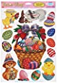 Easter Basket Glass - Window Clings 12in. x 17in. Sheet 1/Pkg