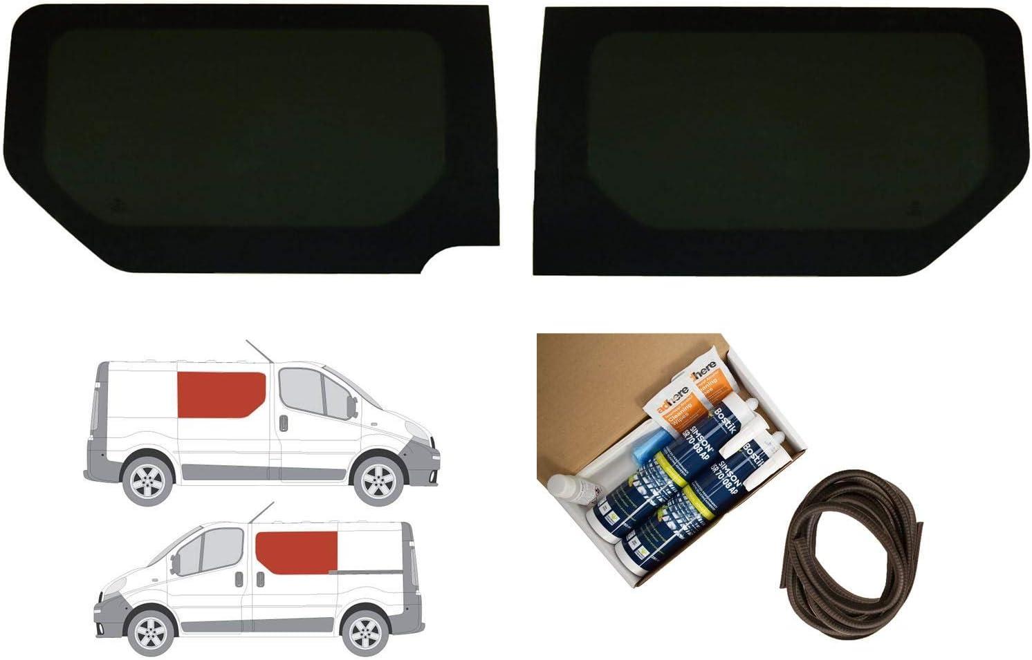 Oscuro Tint fija doble ventana lateral – Juego de montaje de radio en Opel Vivaro (02 – 14): Amazon.es: Coche y moto