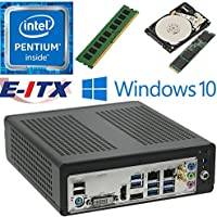 E-ITX ITX350 Asrock H270M-ITX-AC Intel Pentium G4600 (Kaby Lake) Mini-ITX System , 4GB DDR4, 120GB M.2 SSD, 1TB HDD, WiFi, Bluetooth, Window 10 Pro Installed & Configured by E-ITX