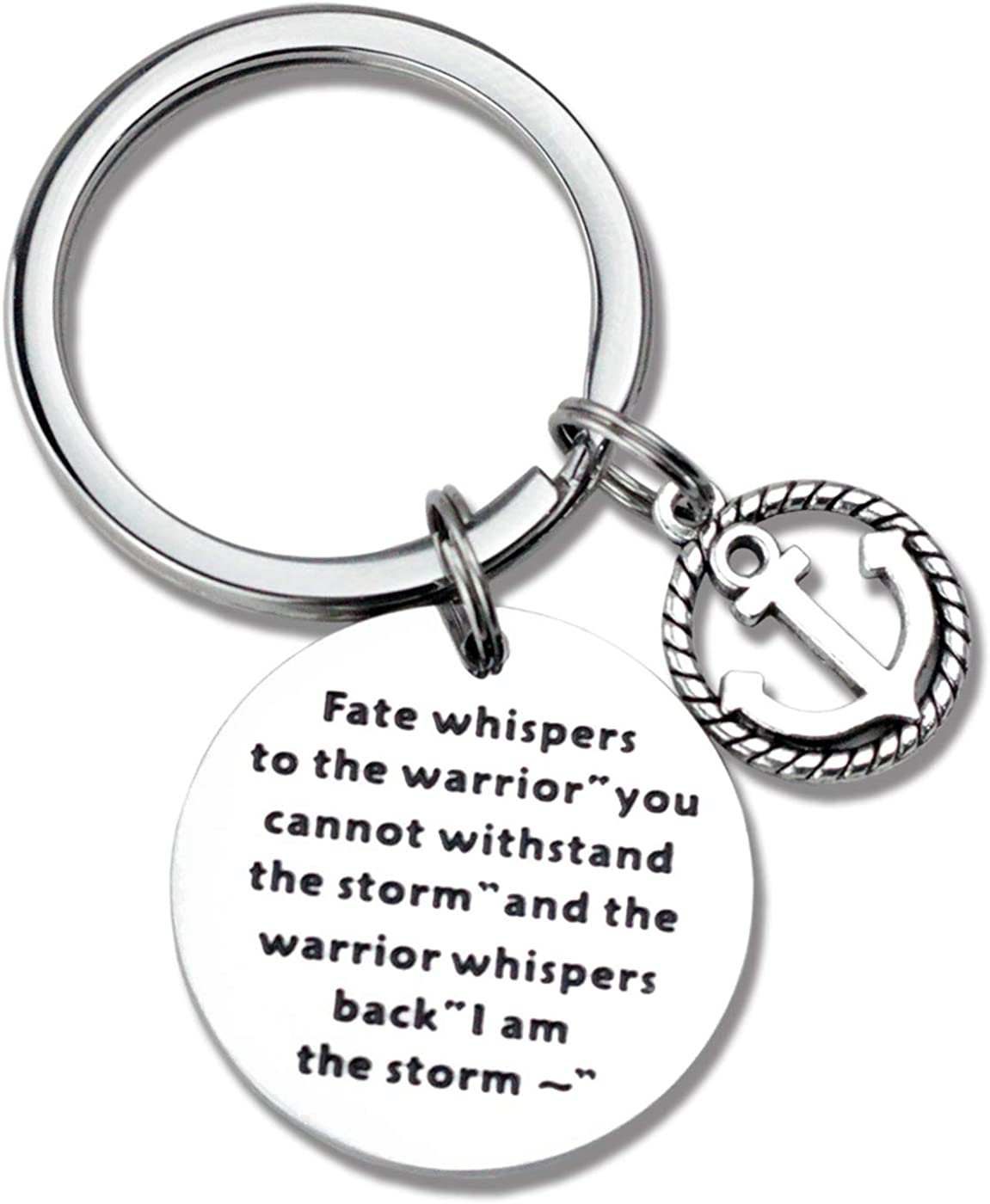 Graduation Gift Keychain Inspirational Keyring for Newly Graduates Women Men Her Feminist Fighter Survivor Gift Fate Whispers to The Warrior