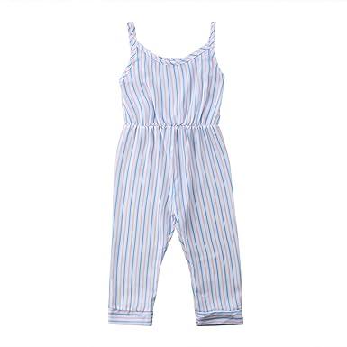 1fd1d43d47d YAZAD Toddler Kid Baby Girl Tank Top Romper Striped Jumpsuit Sunsuit  Bodysuit Outfit Pants Clothing (