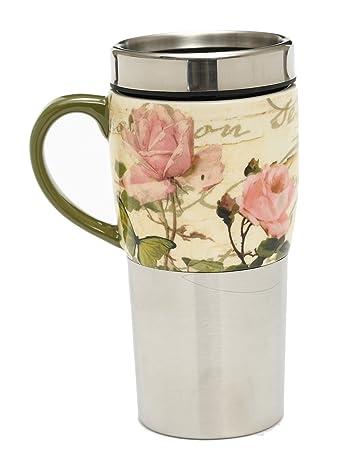 Ting Florabella Auto Griff Becher Kaffee Keramik Edelstahl Ein Tasse f7gyYb6v