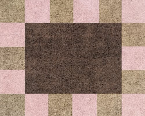 Soho Pink and Brown Accent Floor Rug by Sweet Jojo Designs