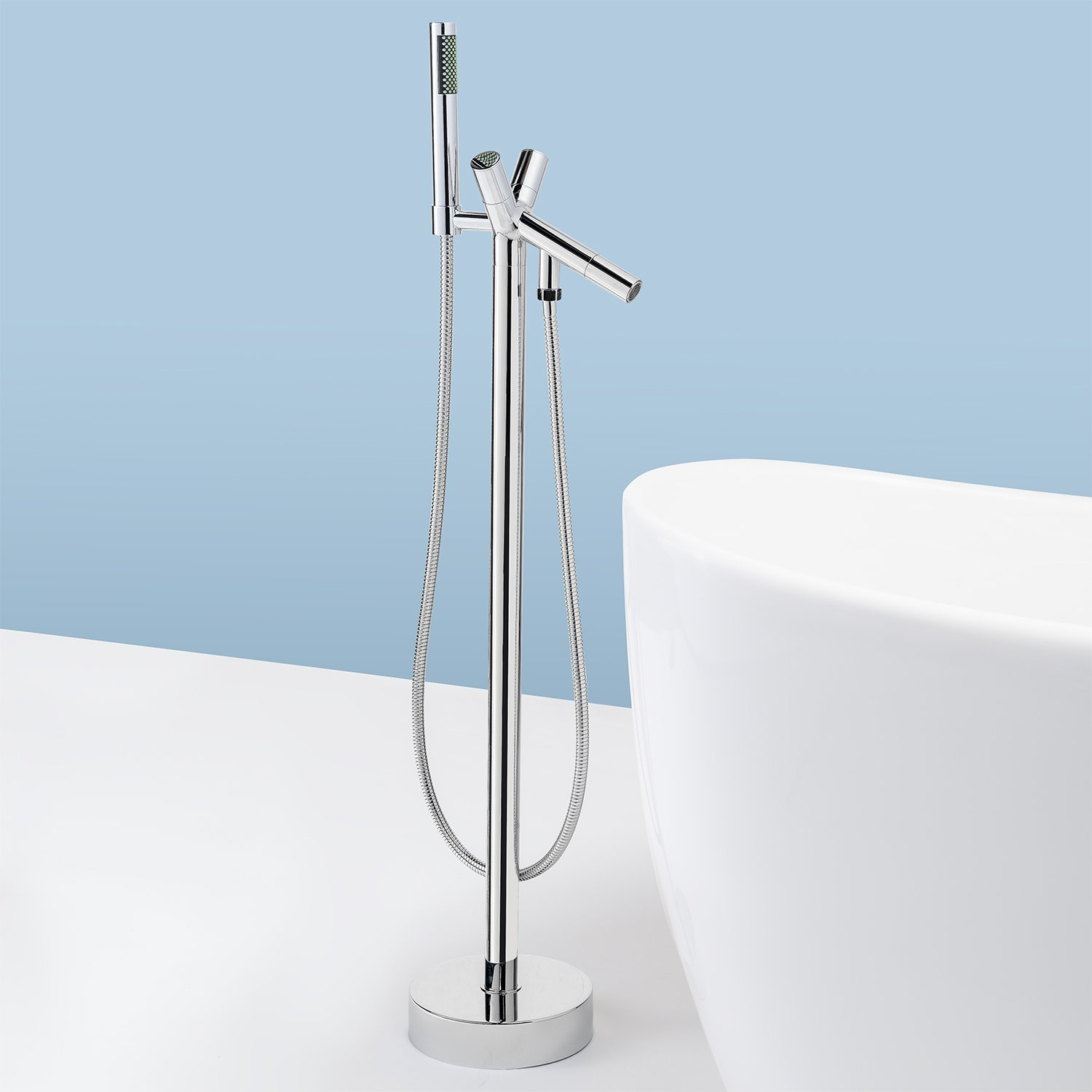 AKDY Freestand Floor Mounted AZ8711A Clawfoot Bathtub Faucet ...