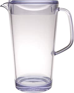 Service Ideas 10-00403-000 Cold Beverage Pitcher with Lid, 1.9 L, Clear