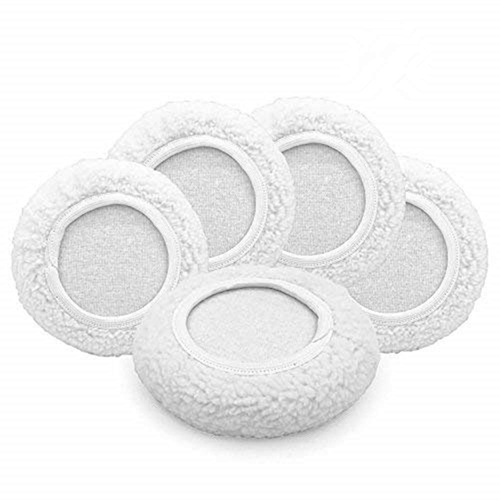 """AIVS Car Polisher Pad Wool Bonnet Buffing Wheel Polishing Pad Waxer Pads for Car Buffer bonnets Polisher, 5 pieces (9""""-10"""")"""