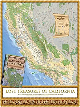 Lost Treasures Of California Map Guide Academia Maps - Califonia map