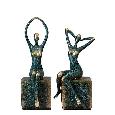 HGXC WY Un par de Estante de Vino Joyas Yoga Resina ...