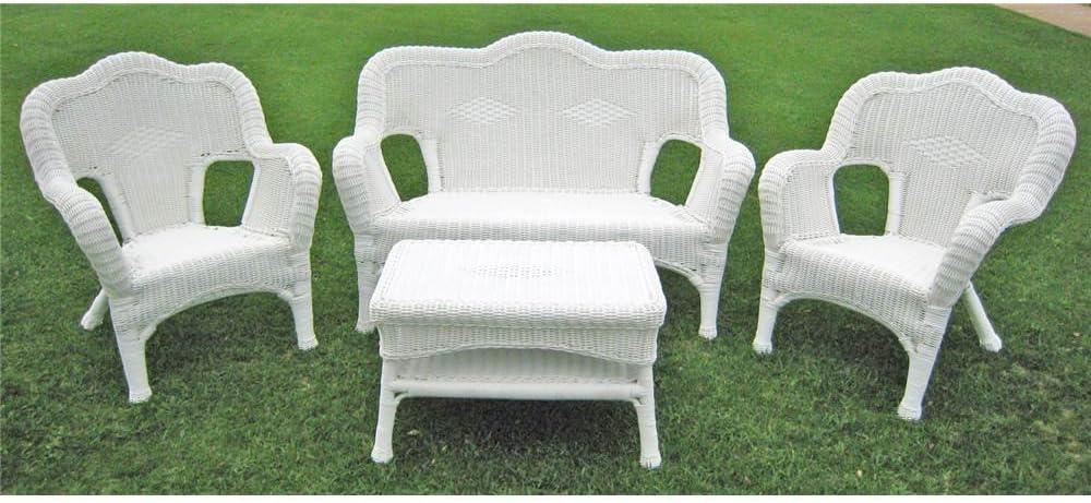 International Caravan Furniture Four Piece Maui Outdoor Seating Group