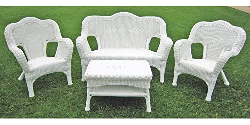 International Caravan Furniture Four Piece Maui Outdoor Seating Group