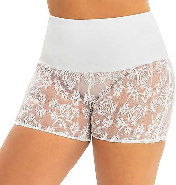 Luckycat Bragas Pantalon Mujer Boxer Encaje Short Leggings Cortos ...
