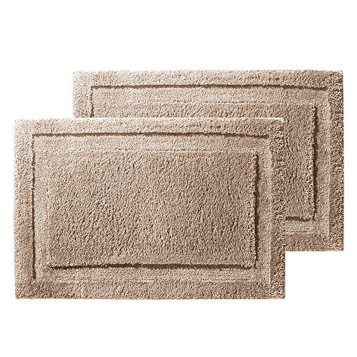 "InterDesign Microfiber Spa Bathroom Accent Rug, 34"" x 21"
