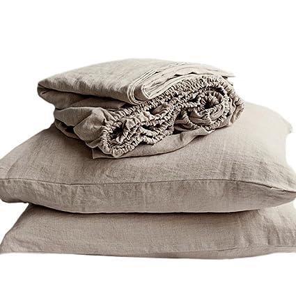 0c83dc7120d802 Amazon.com: Merryfeel Luxurious 100% Pure French Linen Sheet Set ...