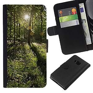KingStore / Leather Etui en cuir / HTC One M7 / Forrest Sun