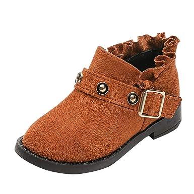 YanHoo Zapatos para niños Botines de Encaje para niños Botines Botines Moda Niños Niñas Zapatillas de Deporte Invierno Gruesa Nieve Bebé Zapatos Casuales: ...
