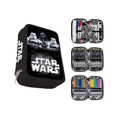 Astro, Plumier Triple Star Wars, Kylo Ren, Stormtrooper, 44 Piezas. AST5090: Oficina y papelería
