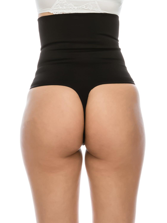 f53298b4a8f8 PinkPunch Youmita Women's Flexees Seamless Mid Waist Tummy Control Thong  Panty Shapewear: Amazon.ca: Clothing & Accessories
