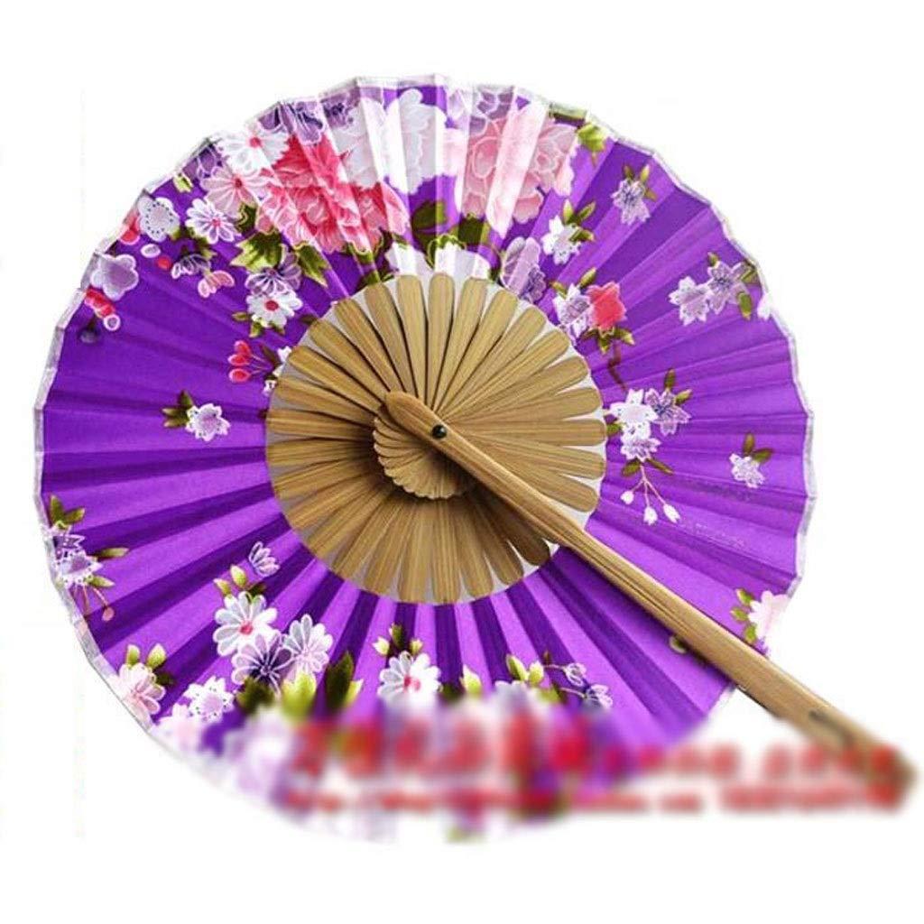 Ventilatore Pieghevole Nuova ventaglio Pieghevole variet/à di Modello di Stoffa di Seta Rotonda Fan Fan Mulino a Vento Regalo Fan per Inviare Regali Fidanzata Artigianato Ventaglio Pieghevole