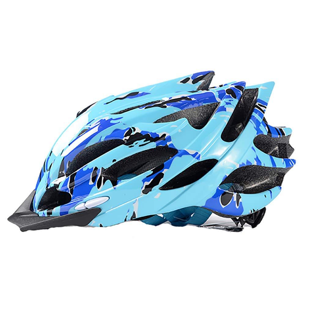 サイクリング自転車用ヘルメット マウンテンバイクのヘルメット、サイクルヘルメット、スポーツ安全保護用ヘルメット スポーツ用保護ヘルメット (色 : 青, サイズ : Medium) B07MC7499N 青 Medium