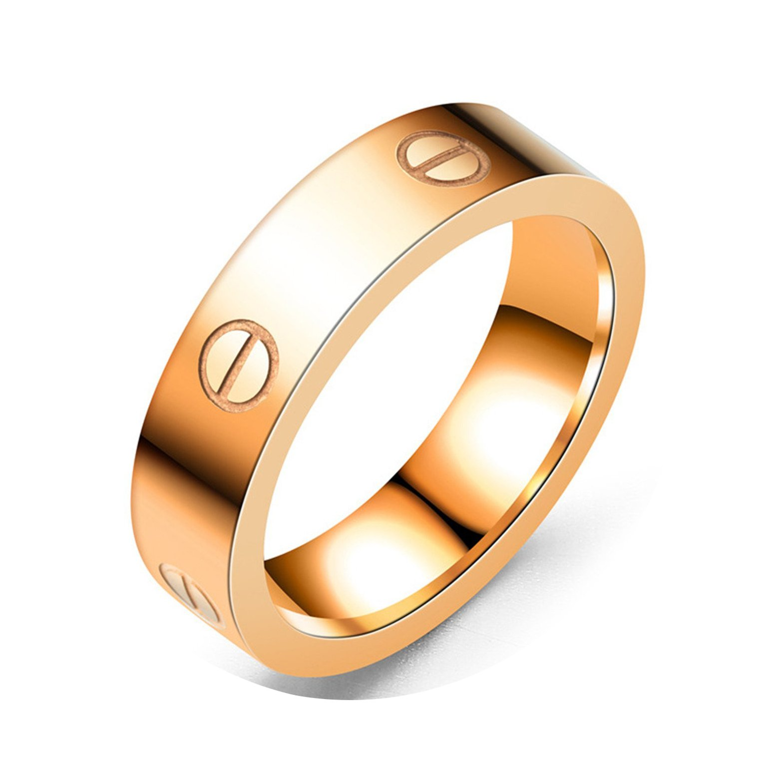 Mintrayor Lifetime Love Rings for Women Couples Promise Engagement Titanium Stainless Steel Band Size 9 RoseGold