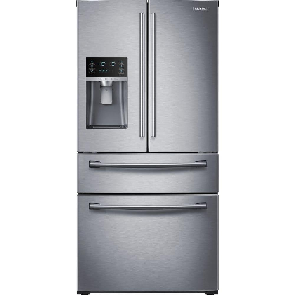 SAMSUNG RF28HMEDBSR French Door Refrigerator, 28 Cubic Feet, Stainless Steel