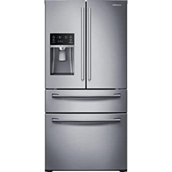 refrigerator amazon. samsung rf28hmedbsr french door refrigerator, 28 cubic feet, stainless steel refrigerator amazon