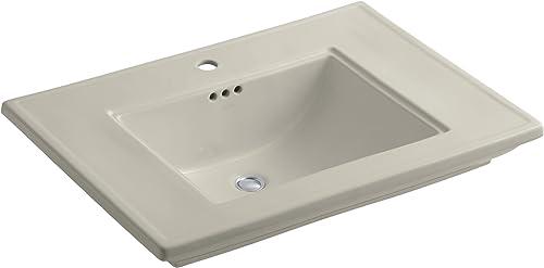 KOHLER K-2269-1-G9 Memoirs Bathroom Sink with Stately Design and Single-Hole Faucet Drilling, Sandbar
