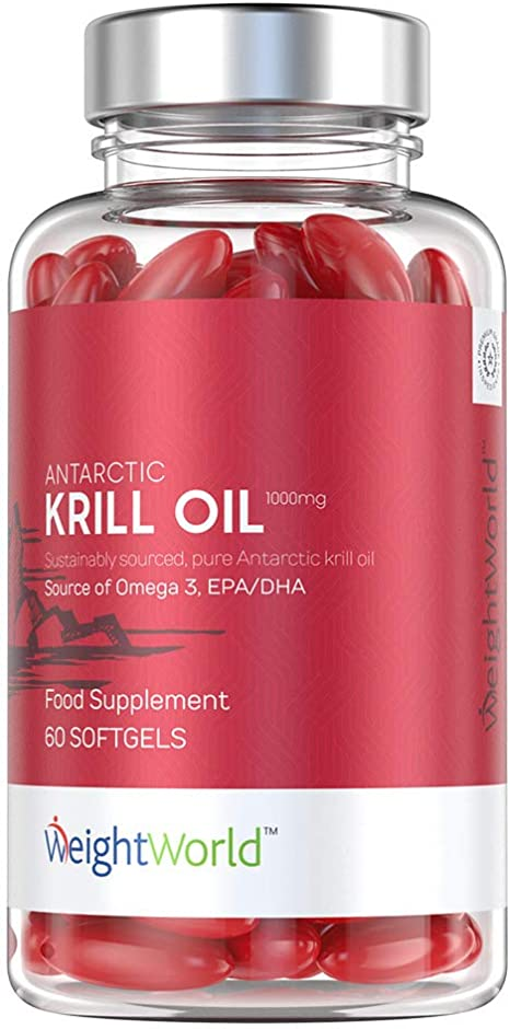 Pure Krill Oil Capsules 1000mg Dha Epa Best Omega 3 Krill Oil Tablets Superba Red
