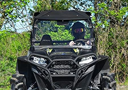 See Fitment for Compatible Years XP 4 900 XP 900//570 Easy Install! SuperATV Heavy Duty Clear Full Windshield for Polaris RZR 800//800 S 800 4
