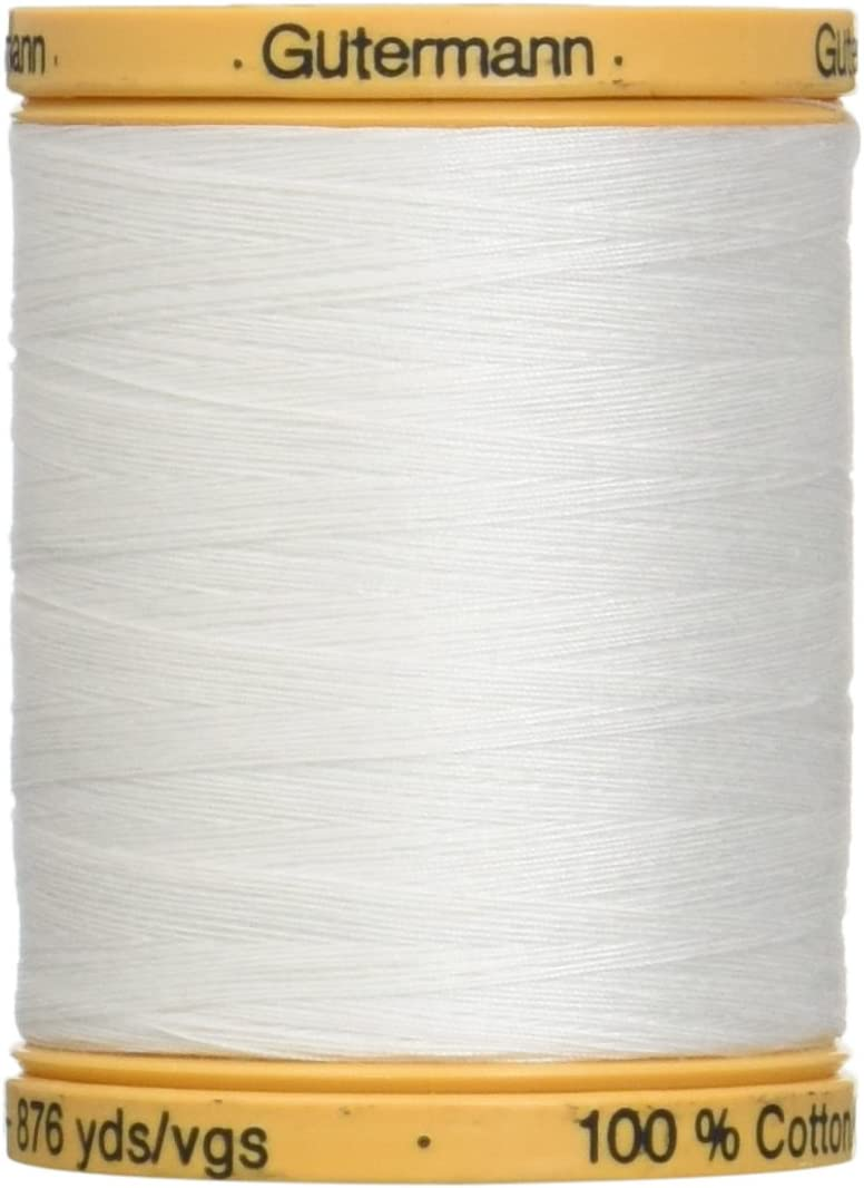 Gutermann Natural Cotton Thread Solids 876 Yards-White