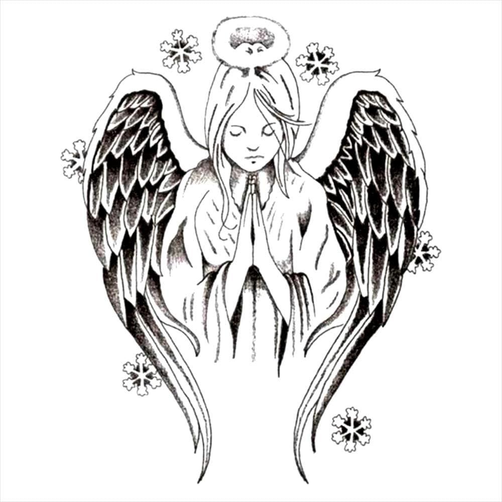 Tatuajes temporales de ángel de la guarda de la religión para ...
