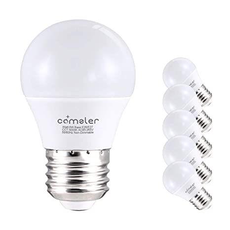 on sale c3937 a3238 Comzler 6W A15 LED Bulb Daylight 60 Watt Equivalent, E26 Medium Screw Base  Small Light Bulb Cool White 5000K, Home Lighting Decorative Ceiling Fan ...