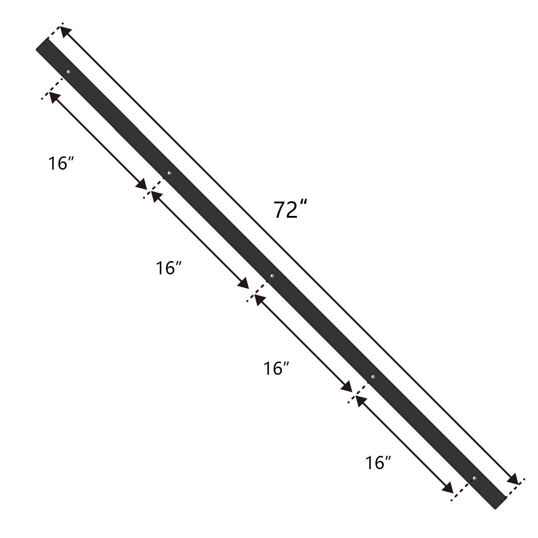 6ft Double Door Cabinet Barn Door Hardware Kit- Mini Sliding Door Hardware - for Cabinet TV Stand - Simple and Easy to Install - Fit 24'' Wide Door Panel (No Cabinet) (Mini Arrow Shape Hangers) by SMARTSTANDARD (Image #6)