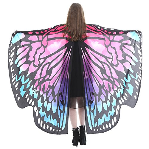 iQKA Halloween Costume Party Prop Egypt Dancing Costume Butterfly Wings Accessories(AC,one Size)]()