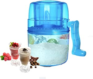 Ice Crusher, Ice Shaver, Hand Crank Operated Ice Breaker Maker Snow Cone Machine with Stainless Steel Blades for Fast Crushing - BPA Free