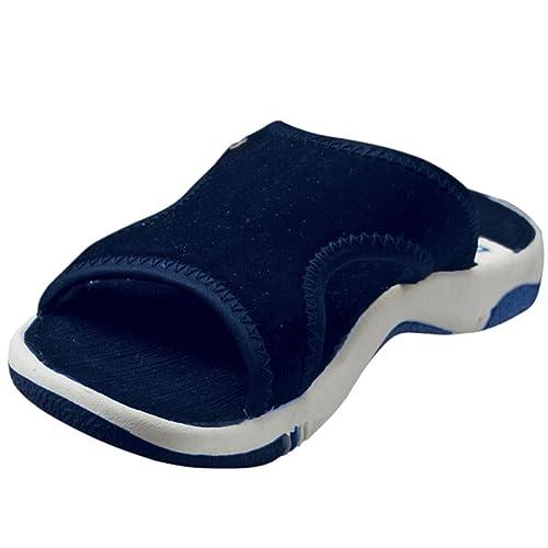 amazon com dawgs womens sporty slides navy size 10 sandals