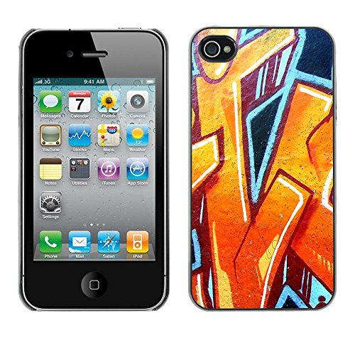 Premio Sottile Slim Cassa Custodia Case Cover Shell // V00002298 Graffiti // Apple iPhone 4 4S 4G