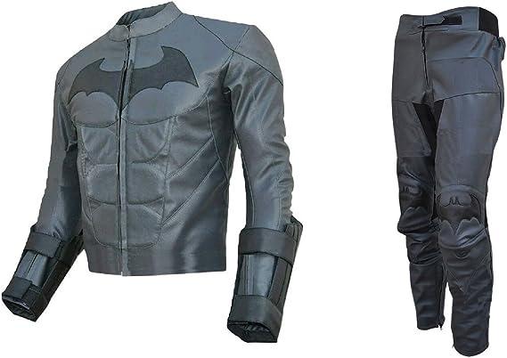 Bestzo Traje de Batman Dark Knight de Piel Real para Hombre Gris ...